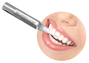 Whiter Image Pen in Use (found in Overnight Teeth Whitening Kits)