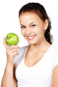Apple, Diet, Healthy eating, Food, Smiling Girl