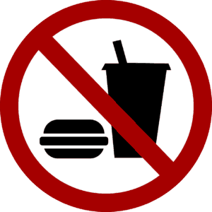 No food, No eating, Food ban